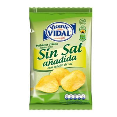 Patatas lisa sin sal añadido.