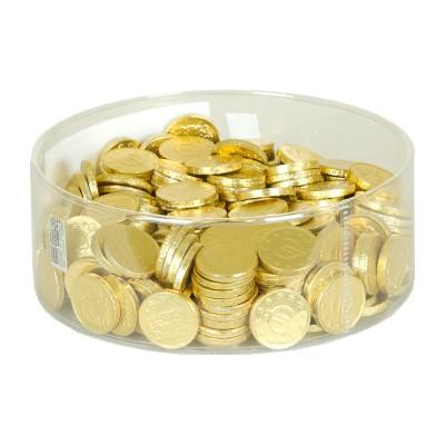Monedas de chocolate.