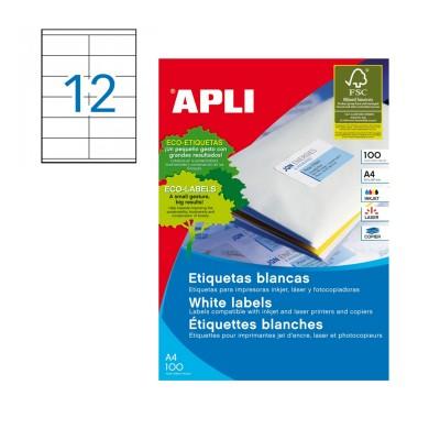 Etiqueta a4 105x48 de Apli.
