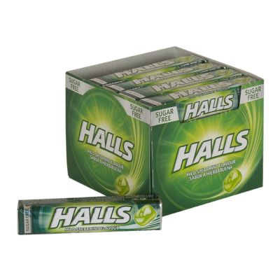 Caramelos Halls hierbabuena.