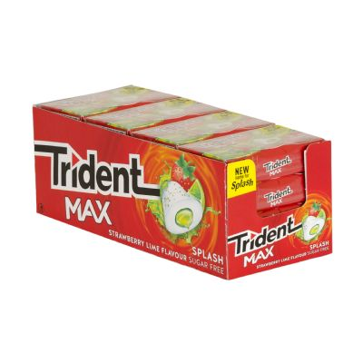 Chicle Trident max splash...