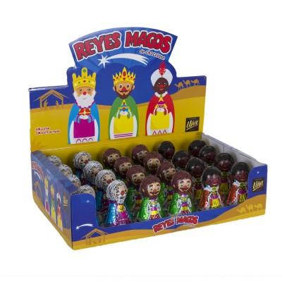 Reyes magos de chocolate.