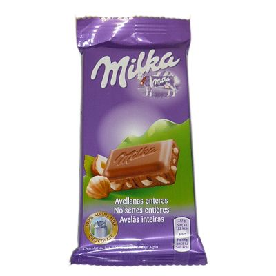 Chocolate Milka avellana.