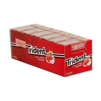 Chicle Trident fruit fresa.