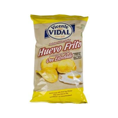 Patatas huevos fritos.