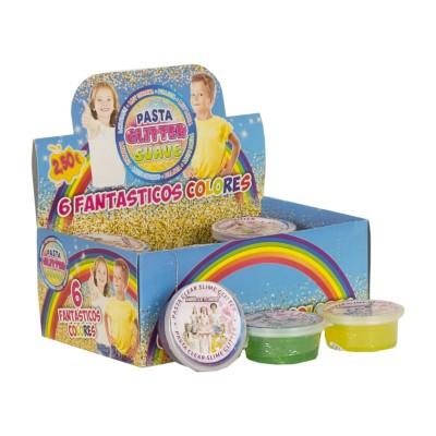 Pasta Glitter Slime 6 colores