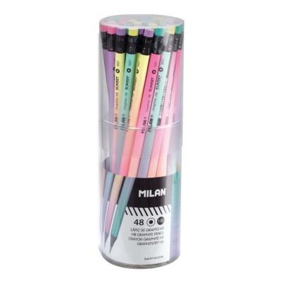 Bote 48 lápices con goma...