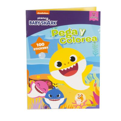 Babyshark Pega y Colorea -...