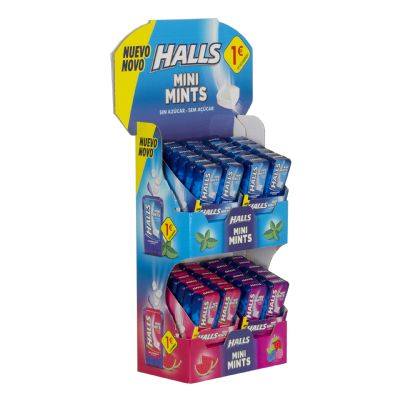 Expositor caramelos Halls...