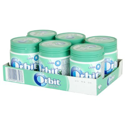 Chicle Orbit eucalito bote.