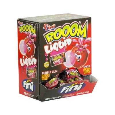 Chicle fini boom gum liquid.