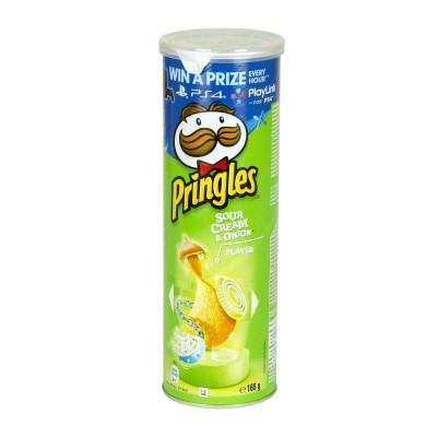 Pringles sour crean & onion.