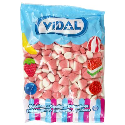 Gominolas besos fresa y nata.