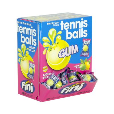 Chicle pelotas de tenis.