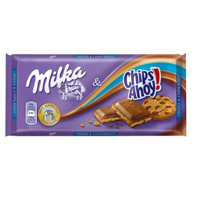 Chocolate milka chips ahoy.