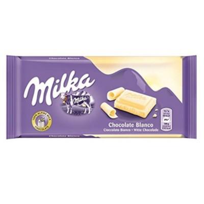 Chocolate Milka tab white.