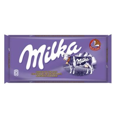 Chocolate Milka tab milk.