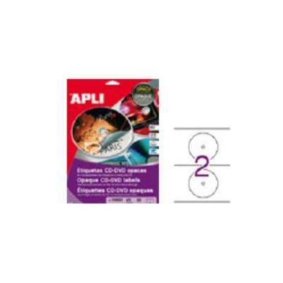 Etiqueta cd opaca de Apli.