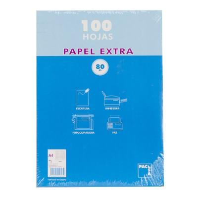 Papel A4 100 hojas de pacsa.
