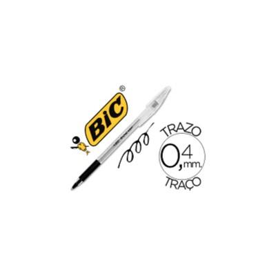 Boligrafo grip negro de Bic.