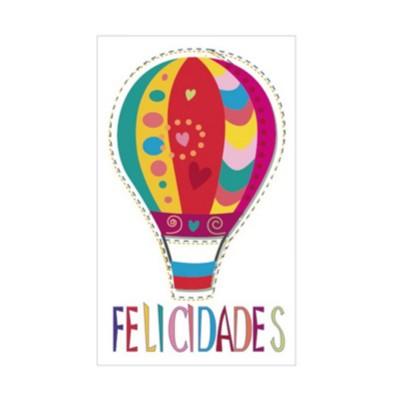 Etiqueta globo felicidades...