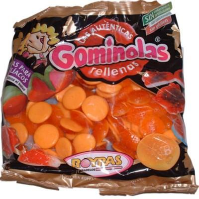 Gominolas gomillenas naranjas.
