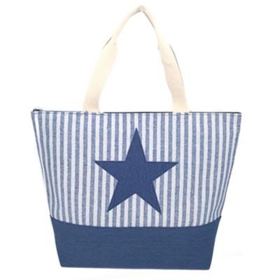 Bolso estrella rayas azul...