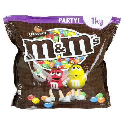 Chocolate M&m de chocolate.