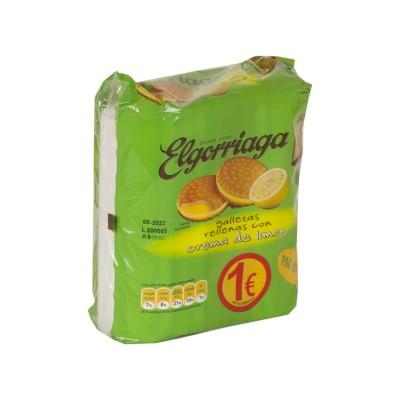 Galletas rellenas de limon.