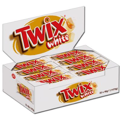 Chocolate Twix white.