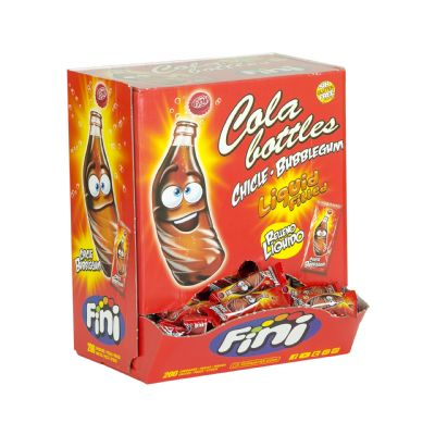 Chicle botellas cola.